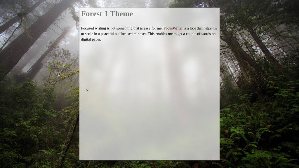 My own Forest 1 theme.